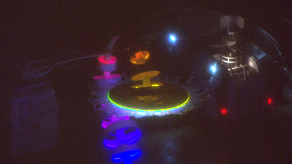 View of the Portland Winter Light Festival from Air 12