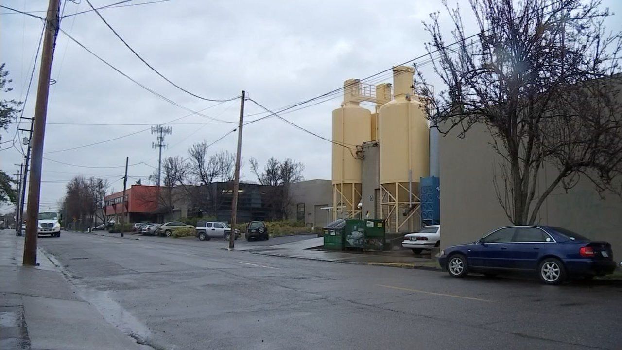 DEQ testing near Bullseye Glass Co. in SE Portland showed high levels of cadmium and arsenic.(Photo credit: Fox 12)