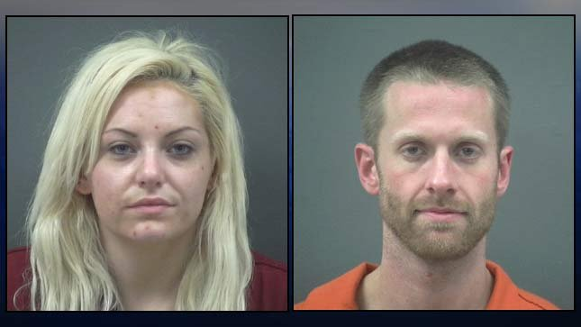 Haley Lynch, Tyler Smith, jail booking photos. A mug shot of Jacob Anderson was not available.
