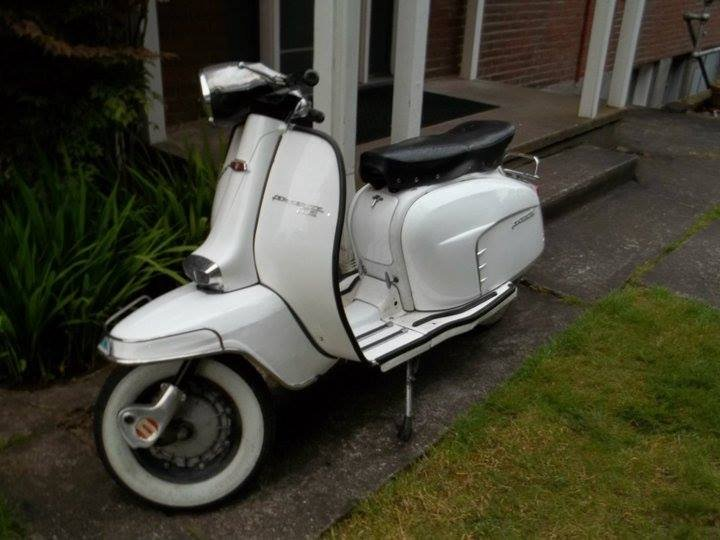 The front of Wilson's Lambretta Scooter.