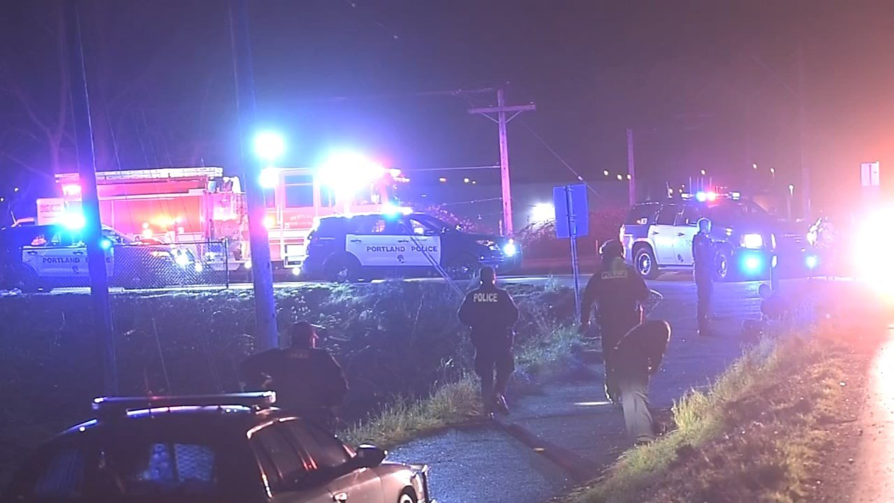 A police chase ended in a crash and the arrest of a suspect early Friday morning in NE Portland.