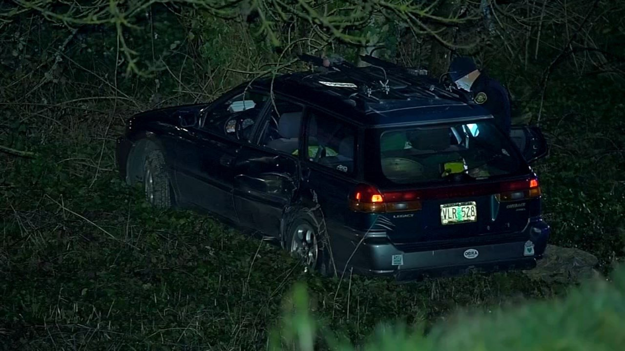 A police chase in NE Portland ended when the suspect crashed into another vehicle that was driving on Marine Drive at 122nd Avenue.