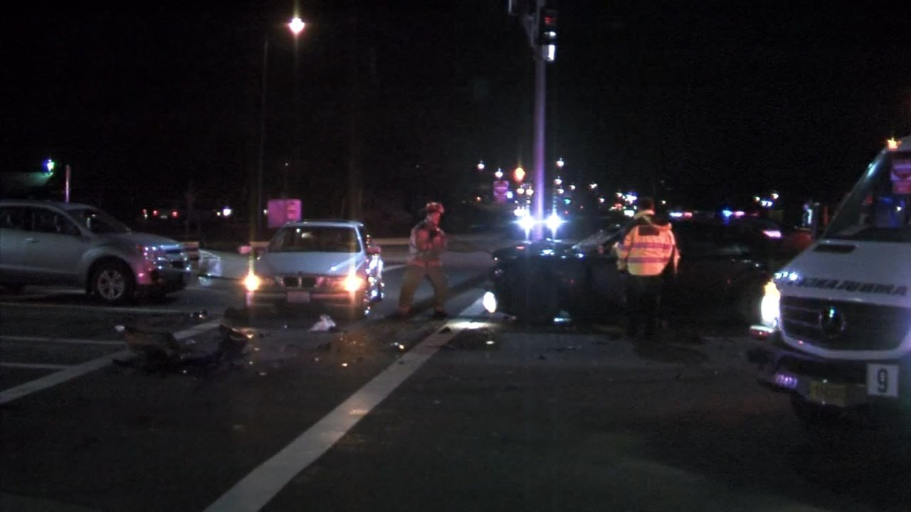 A passenger in the BMW suffered injuries described as life-threatening.
