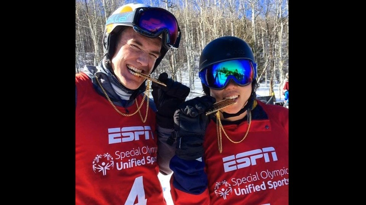 Olympic snowboarder Chris Klug and Henry Meece.