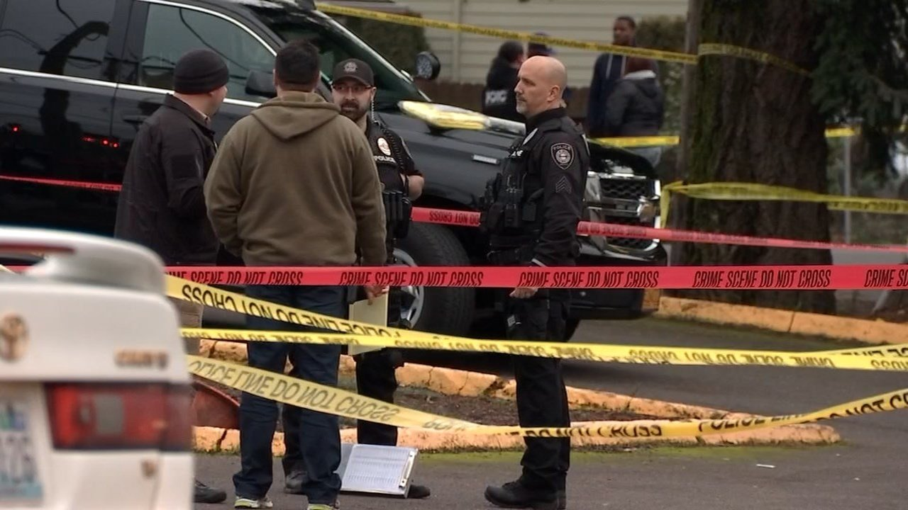Deadly shooting scene in Gresham on Friday.