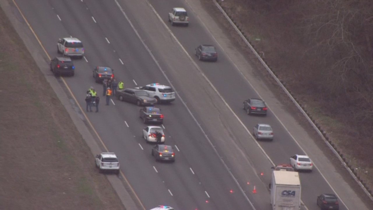 Three suspects in the deadly shooting in Gresham were arrested after a police chase that ended on I-5 near Kelso. (Image from Air 12)
