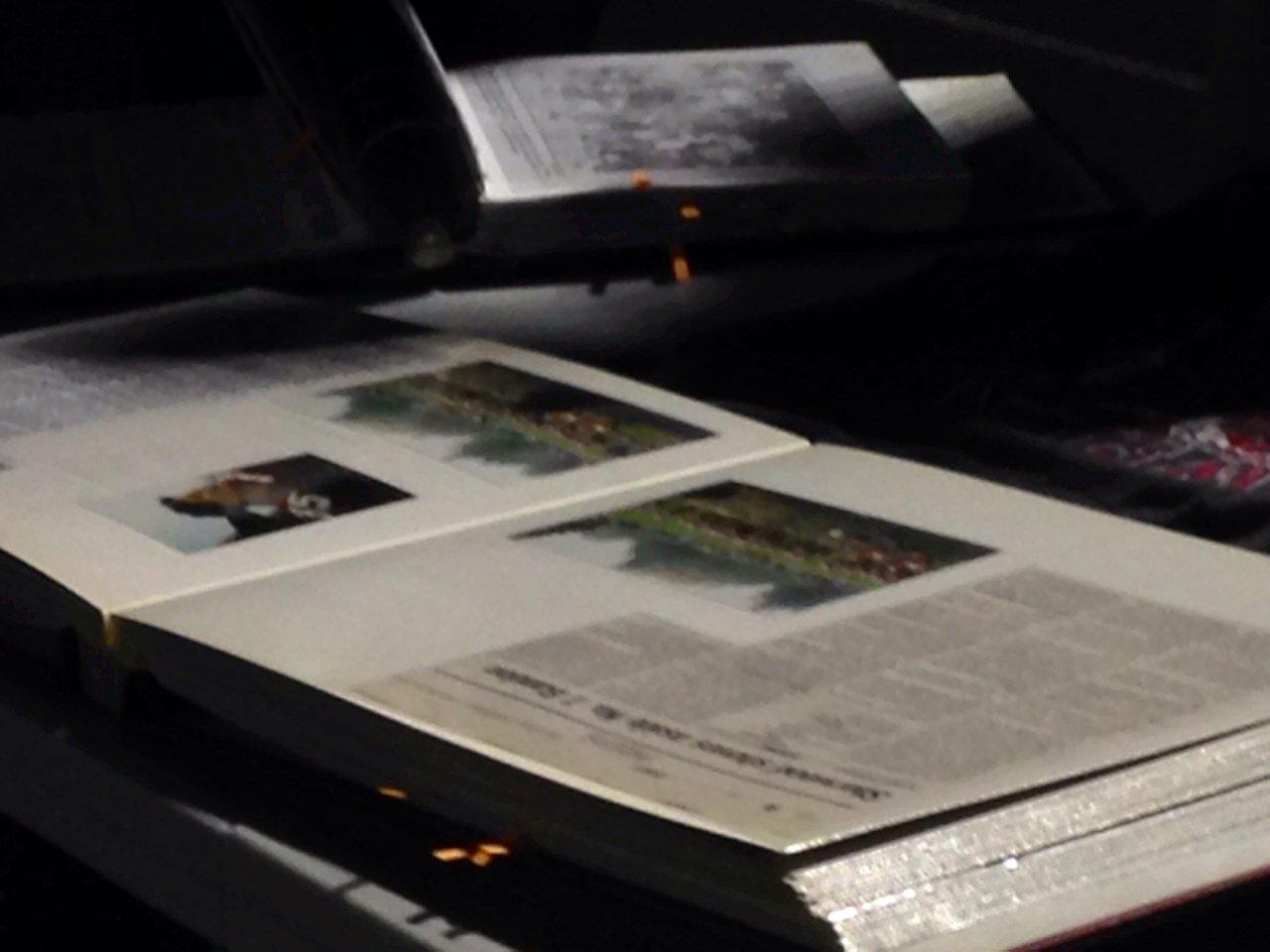 A scrapbook on display at Monday's vigil at Sherwood High School.