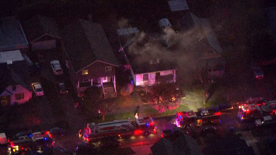 Air 12 over house fire on SE 42nd Ave.