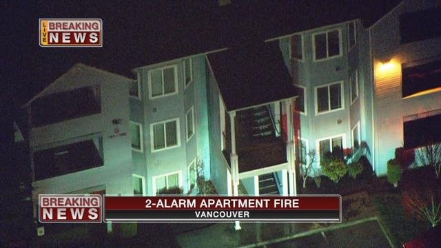 Firefighters respond to two-alarm fire at Vancouver apartment building