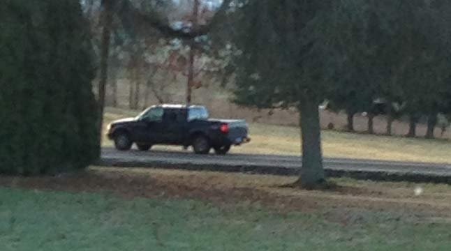 Suspect's truck photographed in Clackamas County following exposure incident.