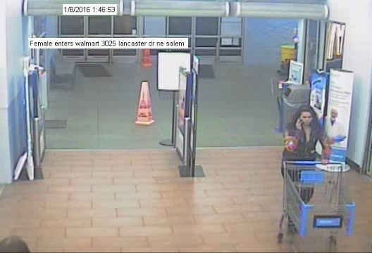 Surveillance image taken from Walmart the day Carlson used the stolen credit card.