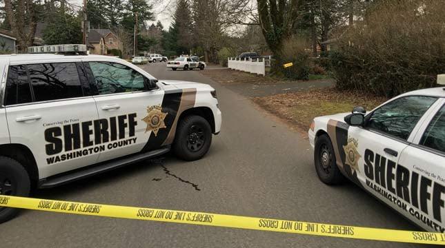Washington County deputies at scene of death investigation Wednesday.