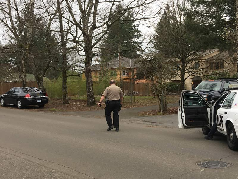 Washington County deputies at scene of death investigation Wednesday.