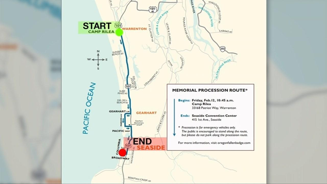 Motorcade procession map