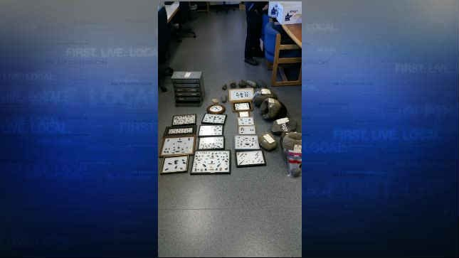 Artifacts and drugs recovered from Cotellese's home (Courtesy: Oregon State Police)