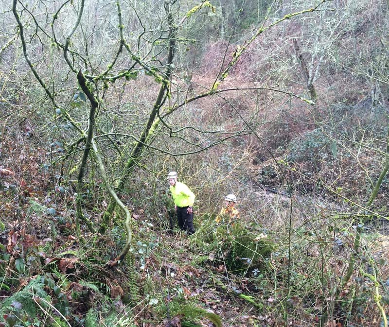 Area near Columbia River High School where the expandable baton was recovered. (Photo: Clark County Sheriff's Office)