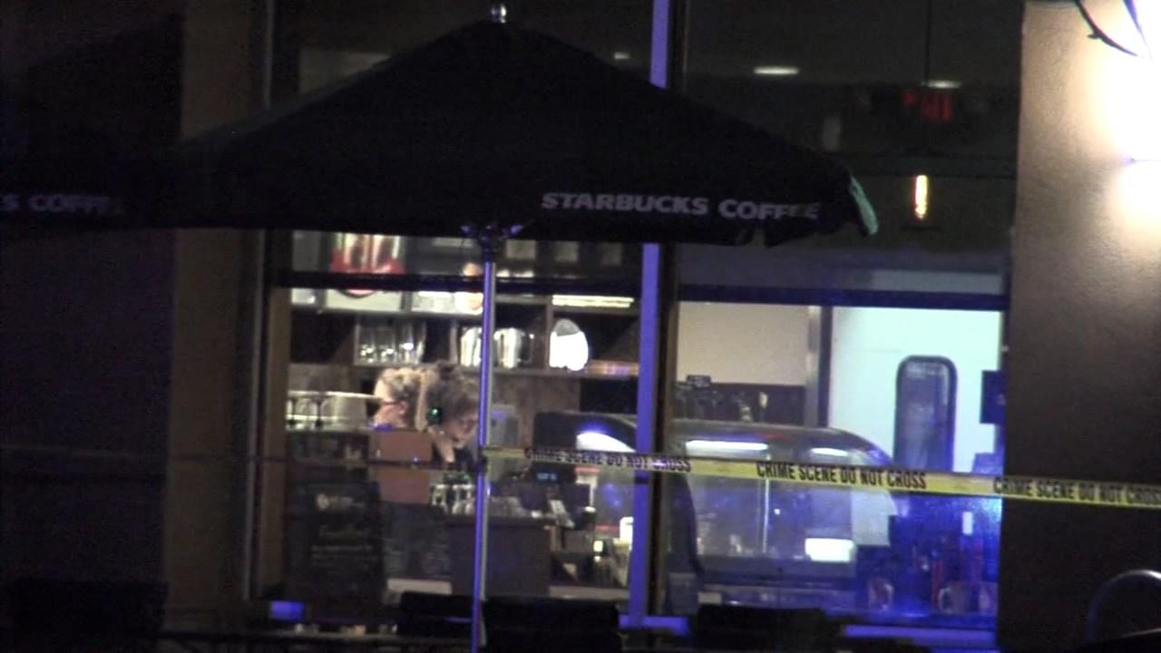 Deadly shooting scene outside Starbucks at Keizer Station on Sunday.
