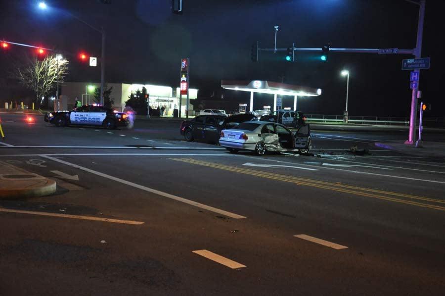 Feb. 4 hit-and-run crash scene in Salem (Photo: Salem PD)