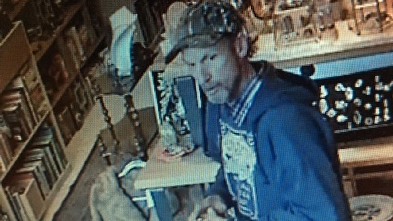 Surveillance image of the male suspect.