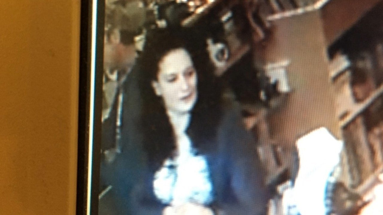 The female suspect caught on surveillance camera.
