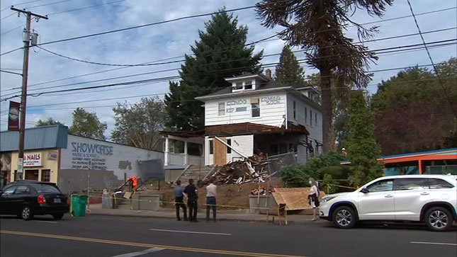 This home on Hawthorne, which is now demolished, was the center of a protest  four months ago.