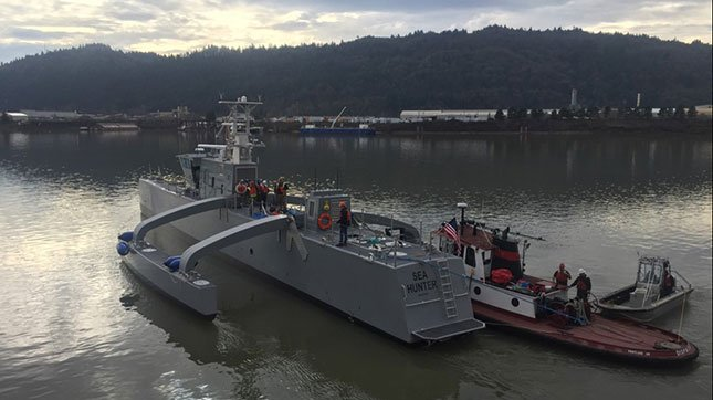 The Sea Hunter will be unveiled in Portland in April (Photos: DARPA)
