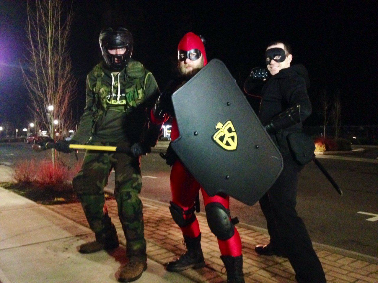 Jericho, Guardian Shield and Sanctuary, on patrol in Canby. (Photo: KPTV)