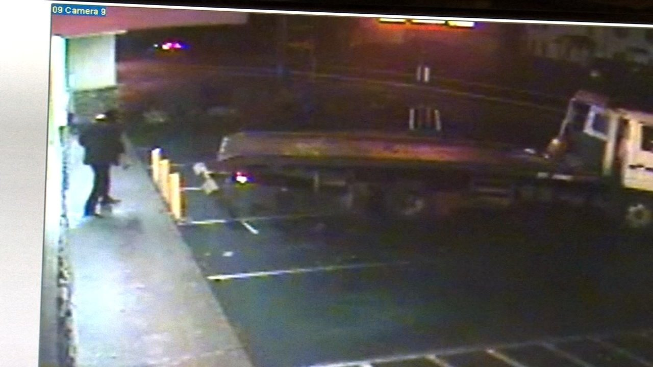 Surveillance image of pawn shop burglary in SE Portland on Feb. 18.