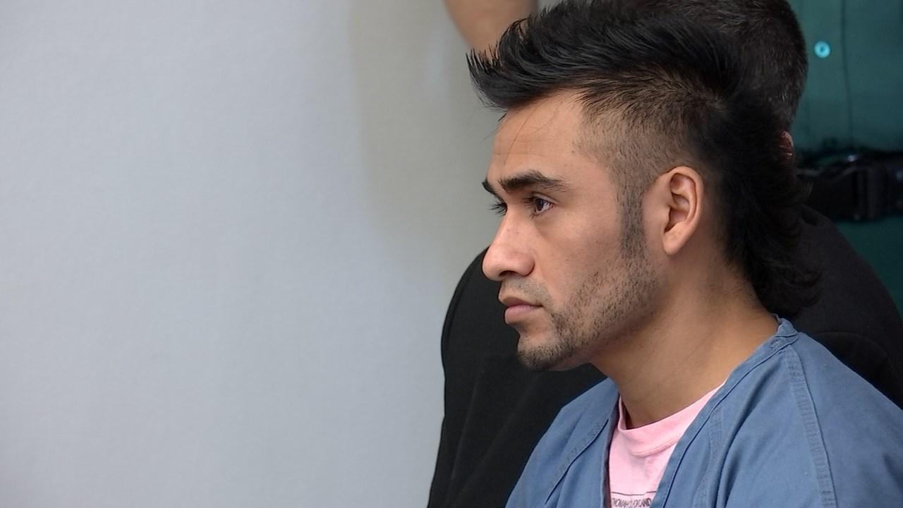 Omar Solano Villanueva in court.