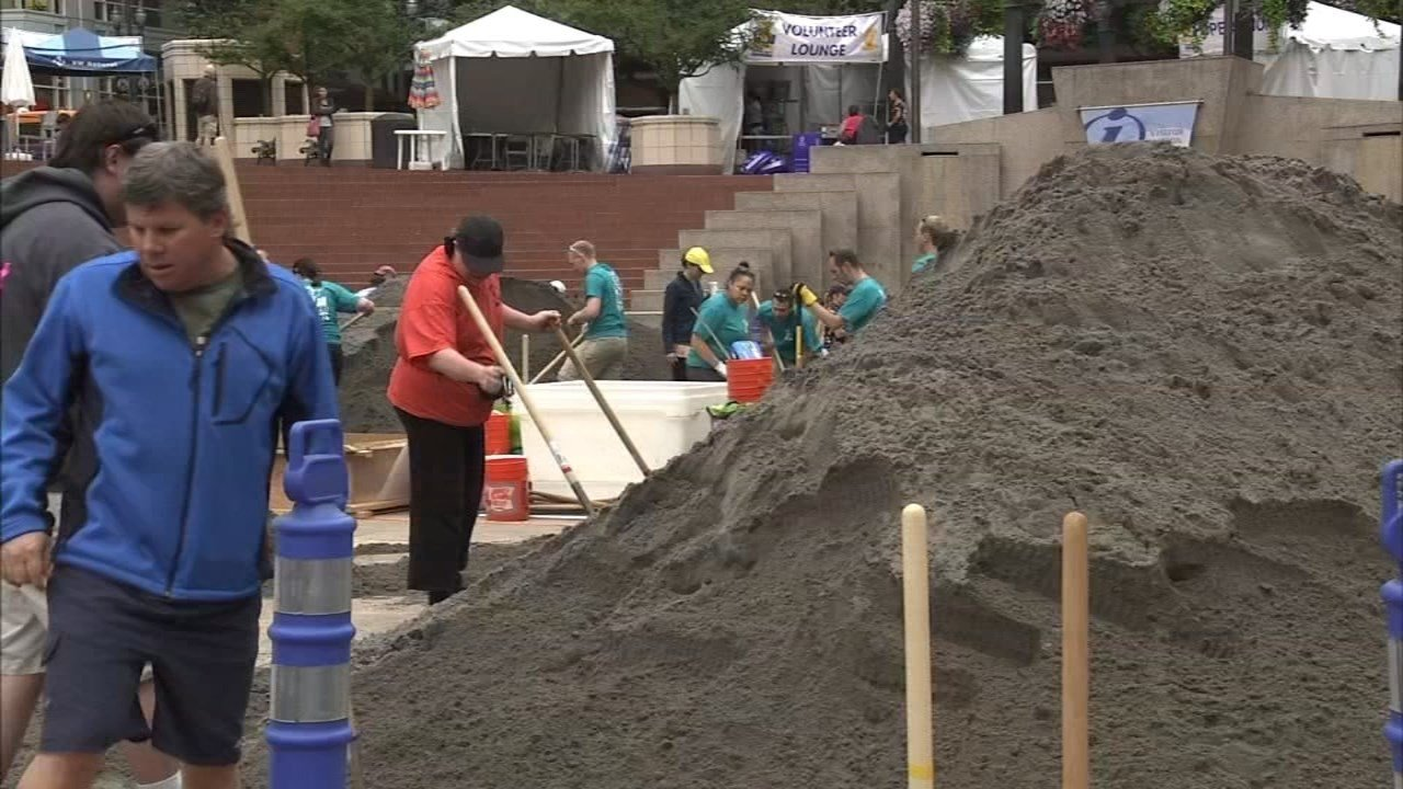 The Sand in the City event would turn Pioneer Square into a sandbox every July for the last 20 years. (KPTV File)