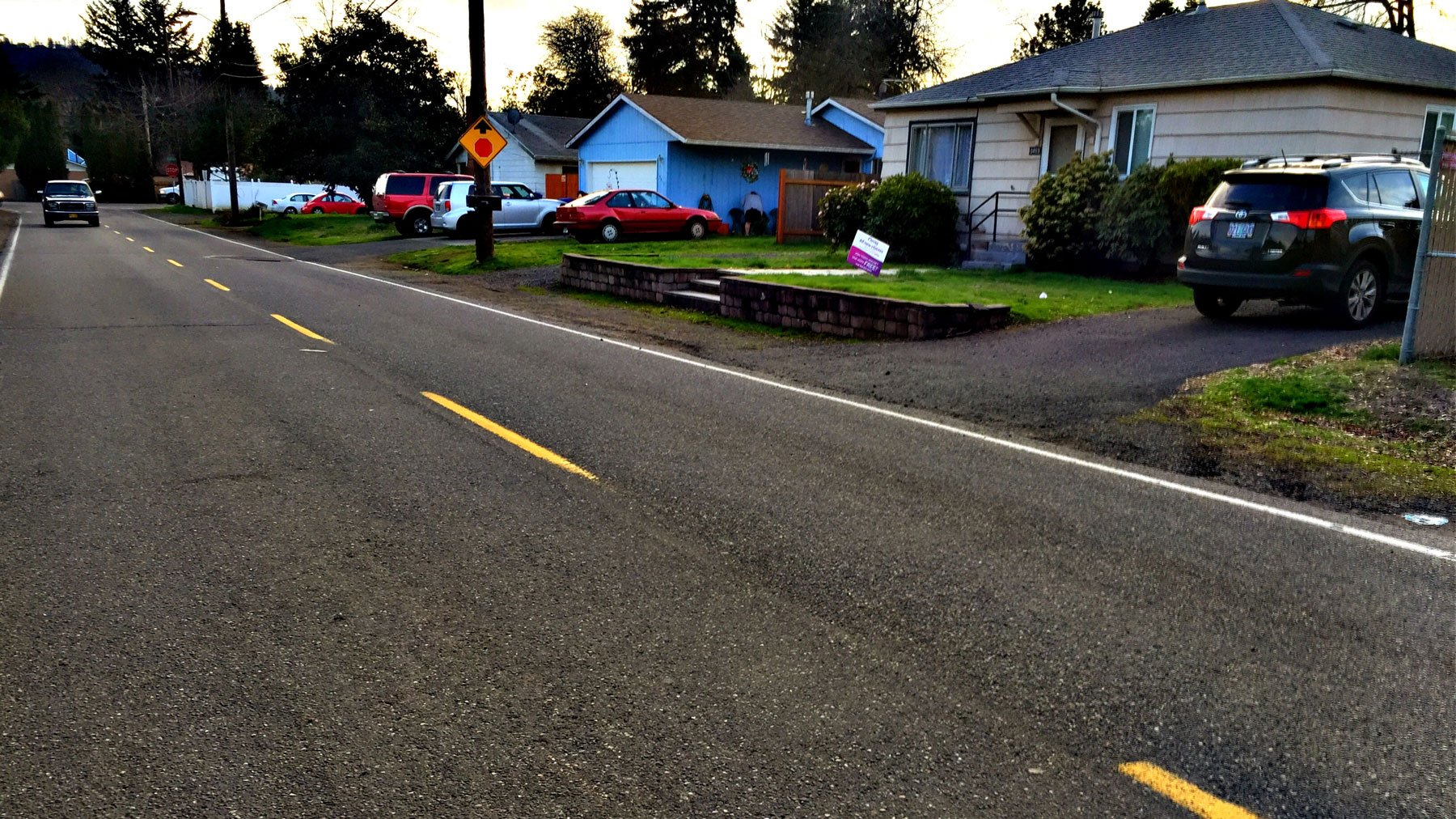 The scene on the 5300 block of SE 111th Ave. following a shooting Wednesday afternoon. (KPTV)
