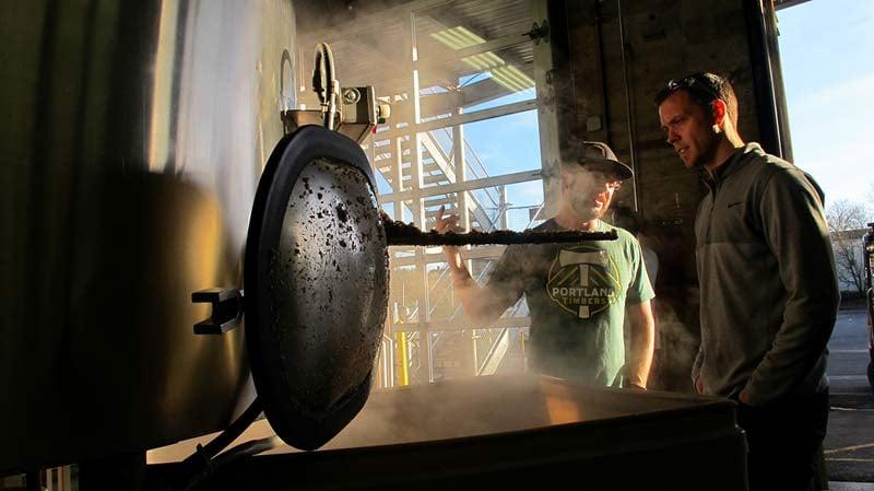 Jack Jewsbury of the Portland Timbers at Hopworks Urban Brewery in SE Portland (Photo: Hopworks Urban Brewery)