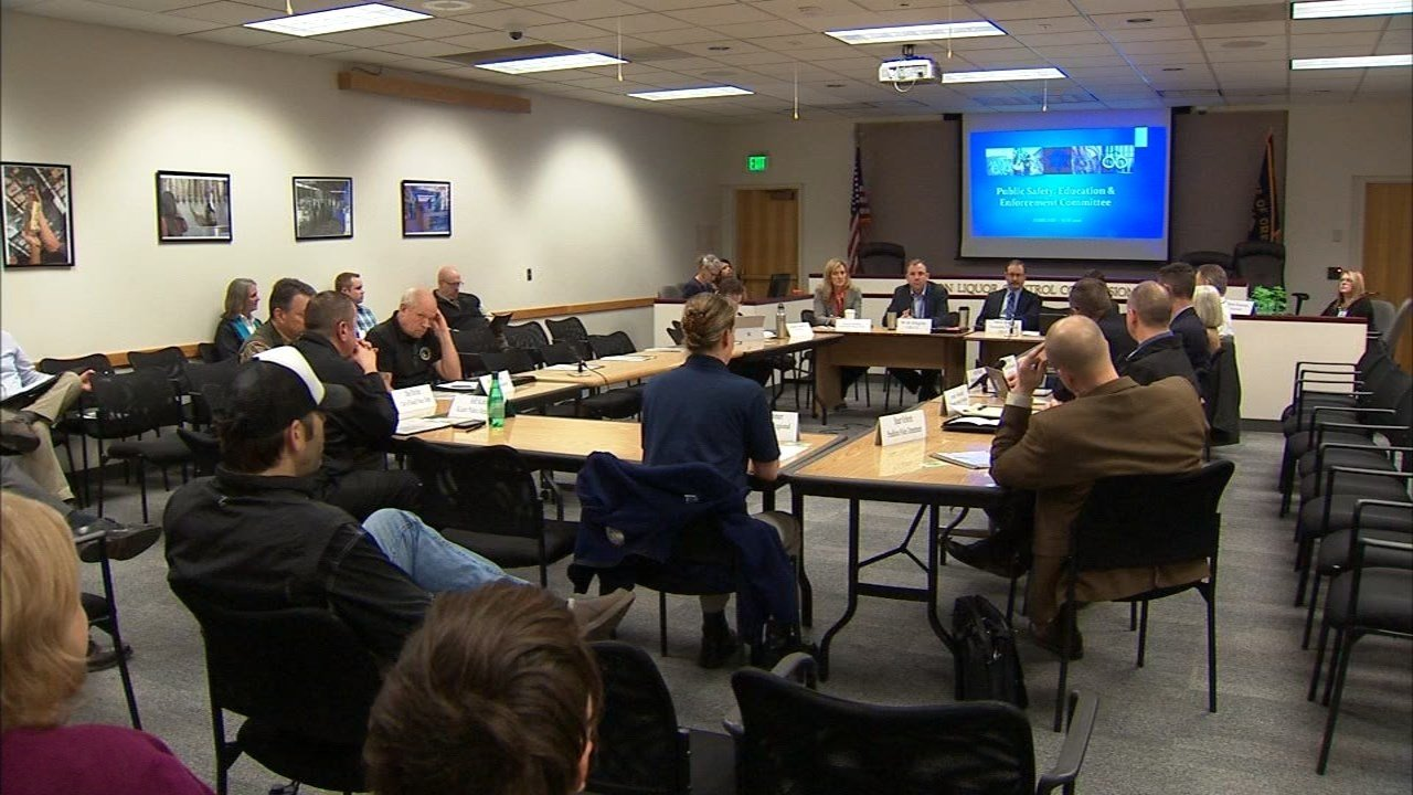 OLCC meeting about legal marijuana and public safety. (KPTV)