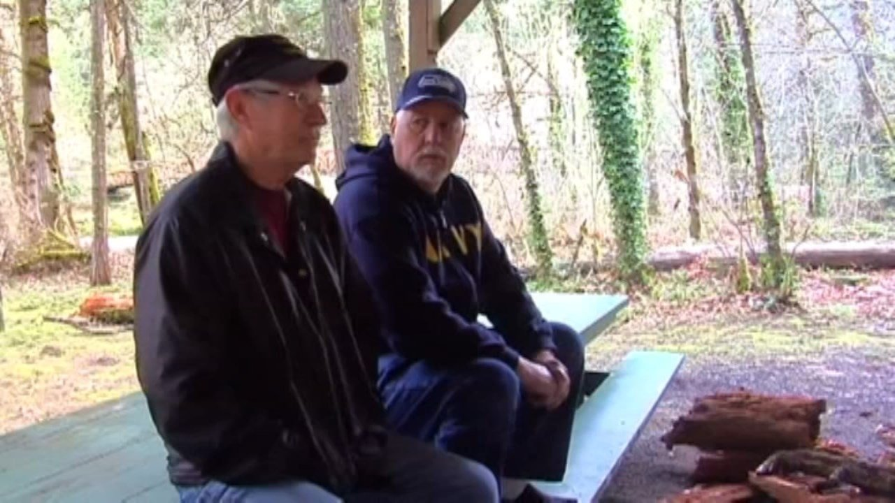 Vietnam veterans Jim Ward and Michael Seymour (CNN)