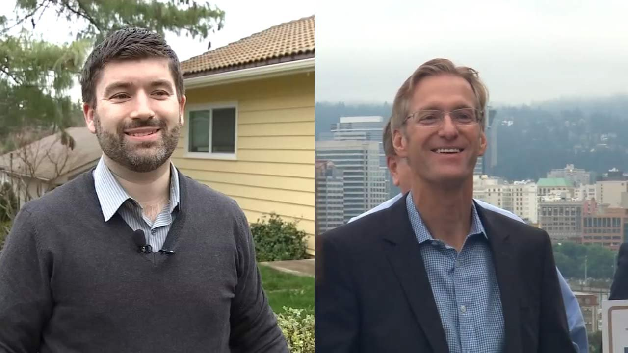 Portland mayoral candidates Jules Bailey and Ted Wheeler.
