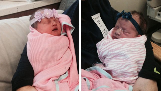 Twins Harper (left), and Griffey were born Monday morning at Providence St. Vincent Medical Center. (Photo: Providence St. Vincent)