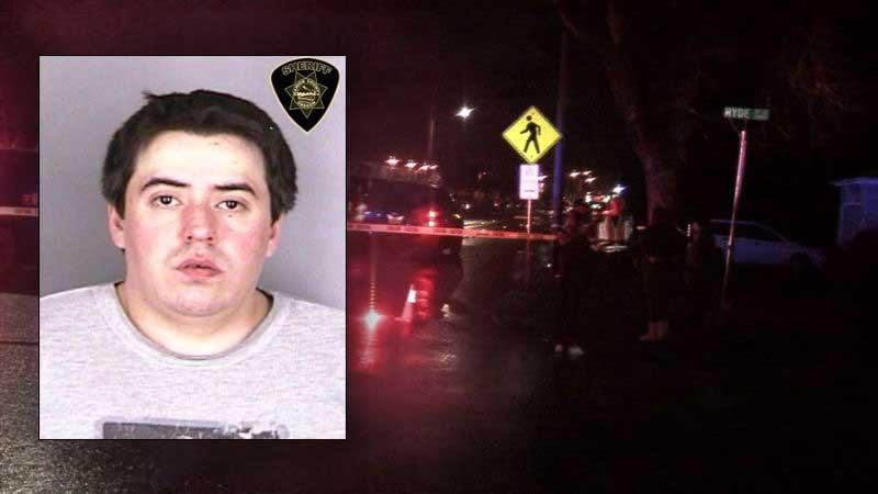 Jonathan Combs, jail booking photo. (Background photo KPTV)